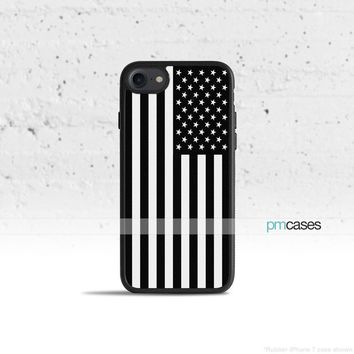 Black & White American Flag Phone Case Cover for Apple iPhone iPod Samsung Galaxy S & Note