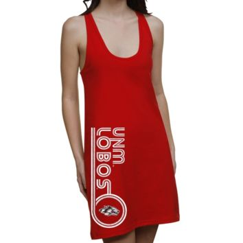 New Mexico Lobos Ladies Retro Junior's Racerback Dress - Cherry
