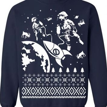 Astronauts Christmas Ugly Sweater