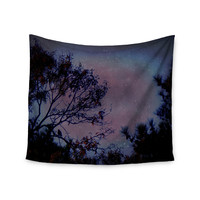 "Robin Dickinson ""Twilight"" Purple Tree Wall Tapestry"