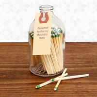 Reclaimed Apothecary Matchstick Bottle