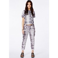Missguided - Enide Snake Print Trousers