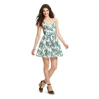 Women's Floral Fit & Flare Dress Paradise Green - Hologram