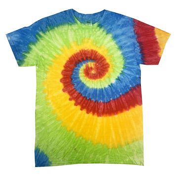 Tie Dye Shirt Multi Color Spiral Pastel Neon Swirl Kids T-Shirt