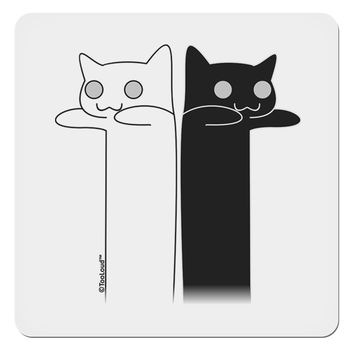"""Longcat and Tacgnol - Internet Humor 4x4"""" Square Sticker by TooLoud"""