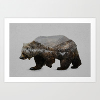 The Kodiak Brown Bear Art Print by Davies Babies