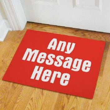 Any message  Doormat
