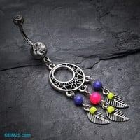 Vintage Enchanted Dream Catchers Belly Button Ring