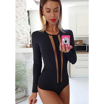 LoL bandage deep mesh bodysuit in 4 colors