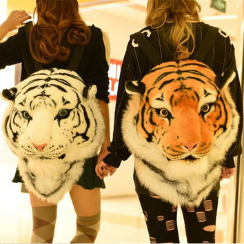 Luxury Men Women Lion Head tiger Head Bag Personality Design Popular Knapsack Backpack