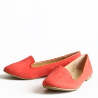 Greatest Love Loafers In Tangerine | Modern Vintage Shoes