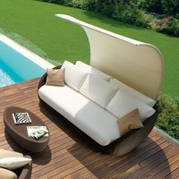 Roberti St Tropez Modern Outdoor Sofa at HomeInfatuation.com.