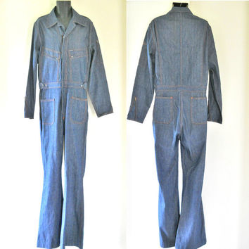 70s Jumpsuit Men 70s Denim Jumpsuit Mens Bell Bottom Jumpsuit One Piece Jumpsuit Bell Bottom Jeans Mens Bellbottoms 70s Bell Bottoms Retro
