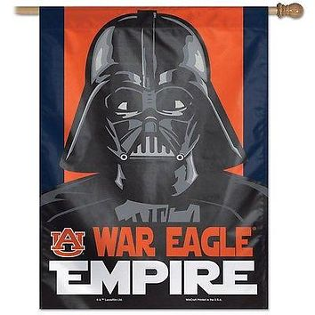 "AUBURN TIGERS WAR EAGLE EMPIRE DARTH VADER 27""X37"" BANNER FLAG NEW WINCRAFT"