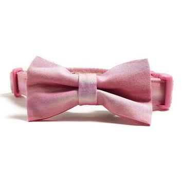 Dog Collar - Collar and Bow Tie - Pink Dog Collar - Pink Ombre - Purple Ombre - Collar Bow Tie Set - Girly Dog Collar