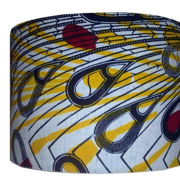 30cm drum lamp shade in peacock feathers print, Back To School, Man Cave Dorm Decor, DetolaAndGeek UK Lampshade Seller