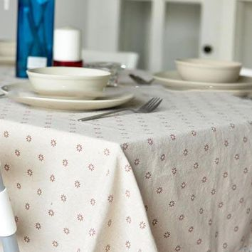 Liner Cotton Tablecloths For Rectangular Tables Vintage Flower Table Cover Floral Printed Table Cloth Runners And Placemats