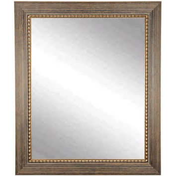 "Brandt Works Bronze Wood Trail Wall Mirror BM024M3 32""x41"""
