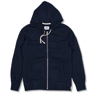Knit Terry Full Zip Hoodie (Navy)