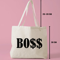 TBAG-738 - Boss - Teenager Gifts - Tie Dye - Hipster Printed Tote Bag Canvas - by HeartOnMyFingers