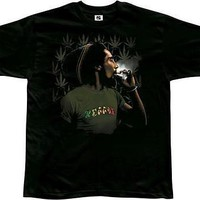 New Licensed Bob Marley Reggae Smoking Weed Blunt Adult T-Shirt S M L XL XXL