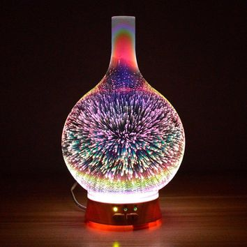 Essential Oil Diffuser Night Light 3D Effect Cool Mist Humidifier Ultrasonic Aromatherapy Diffuser