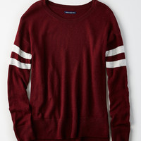 AE Step-Hem Sweater, Burgundy