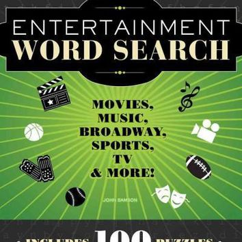 Entertainment Word Search: Movies, Music, Broadway, Sports, TV & More!: Entertainment Word Search