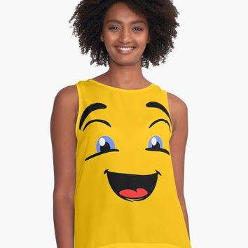 'Smile Get Happy' Contrast Tank by IMPACTEES