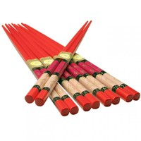 Chopsticks Set - Red Sticks with Koi