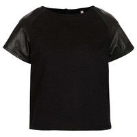 Petite MOTO Leather T-shirt - New In This Week - New In - Topshop USA