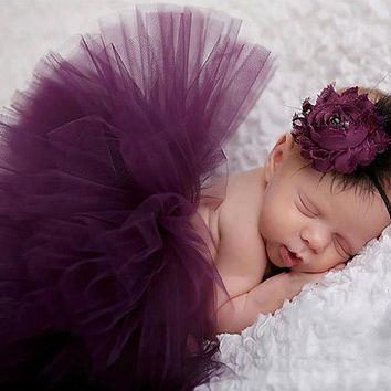 Princess Baby Tutu Skirt Newborn Photography Props Infant Costume Outfit Headband Baby Photography Props Baby Skirt DW986711