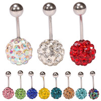 Rhinestone Accessory Stainless Steel Navel Rings Belly Ring [6768822919]
