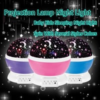 Romantic Rotating Spin Night Light Projector Children Kids Baby Sleep Lighting Sky Star Master USB Lamp Led Projection