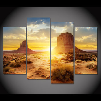 Sunrise Desert 5-Piece Wall Art Canvas