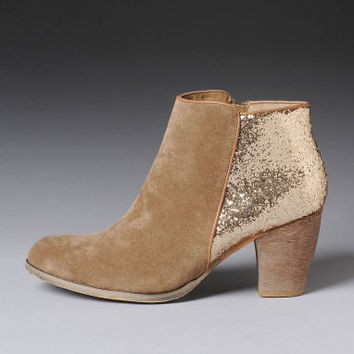 Wanted Glitter Back Booties