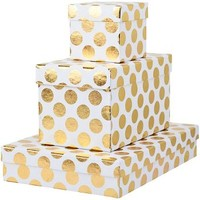 Gold Big Boom on Ivory Gift Boxes