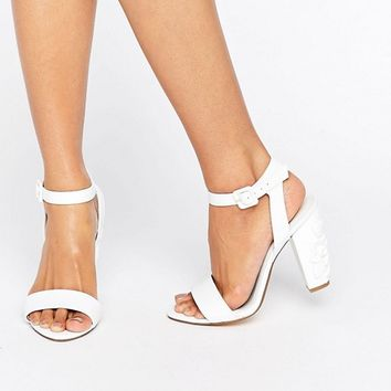 Dune Mayflower Floral Heel Sandals at asos.com