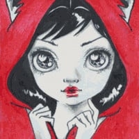 Modern Cross Stitch Kit By Simona Candini 'Little Red Riding Hood' - 14 or 25 counted cross stitch