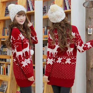Red Knitted Christmas Sweater