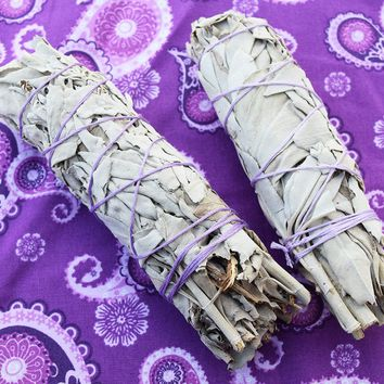 White Sage Bundles 2 pack of Smudge Sticks for Smudging Your Home, Sage Sticks