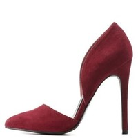 Cinnamon Double D'Orsay Pointed Toe Pumps by Charlotte Russe