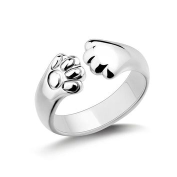 Cat Paws Cuff Ring