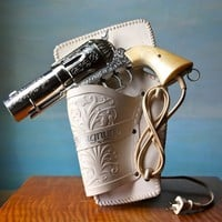 357 Magnum Hair Dryer.  Vintage Novelty Pistol Hairdryer F
