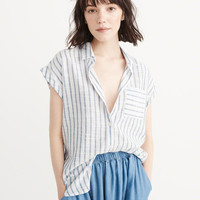 Womens Cotton Shirt | Womens Tops | Abercrombie.com