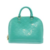 Louis Vuitton Alma GM Vernis Blue Lagon Handbag
