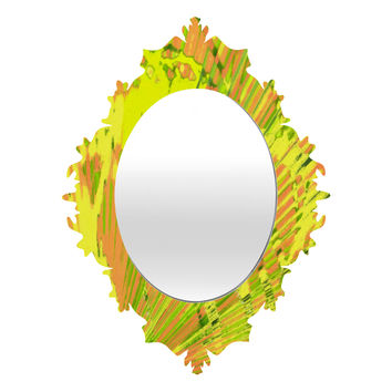 Rosie Brown Orange Palms Baroque Mirror