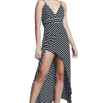 Change in Stripes High Low Cami Maxi Dress
