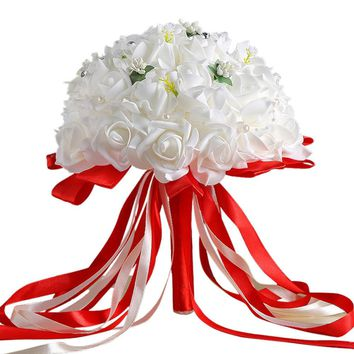 artificial silk flowers rose for decoration table flower arrangements beautiful artificial flowers bouquets DIY flores de papel