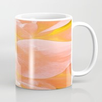 The Light Inside Flower Abstract in Peachy Pink Mug by Jen Warmuth Art And Design